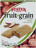 Stater Bros.® Fruit n' Grain Apple Cinnamon Cereal Bars 8 ct Box