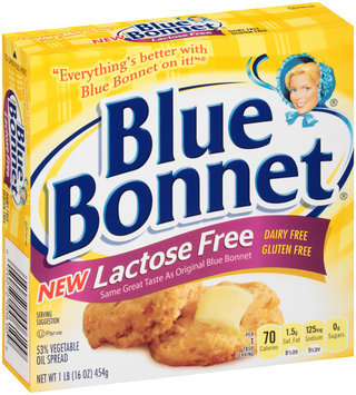 Blue Bonnet® Lactose Free 53% Vegetable Oil Spread 1 lb. Box