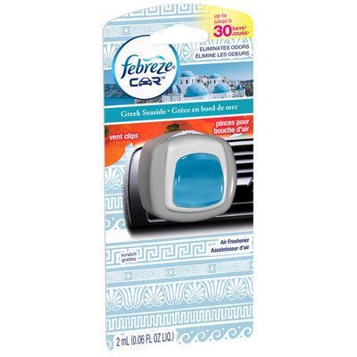 Car Febreze Car Vent Clips Greek Seaside Air Freshener (1 Count, .06 fl oz)