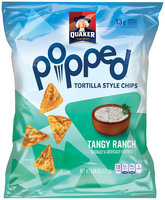 Quaker® Popped Tangy Ranch Tortilla Style Chips