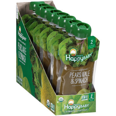 Happy Baby® Organics Pears, Kale & Spinach Baby Food 8-3.5 oz. Pouch