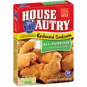 House-Autry® Reduced Sodium All-Purpose Seasoned Breading Mix 8 oz. Box