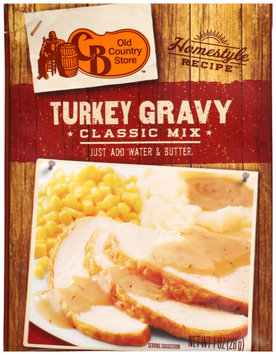 Old Country Store™ Homestyle Recipe™ Turkey Gravy Classic Mix 1 oz. Pack