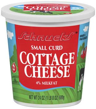 Schnucks 4% Milkfat Small Curd Cottage Cheese