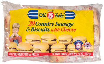 Purnell's Old Folks® Country Sausage & Biscuits with Cheese 20 ct Bag