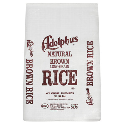 Adolphus Long Grain Brown Rice 25 Lb Bag