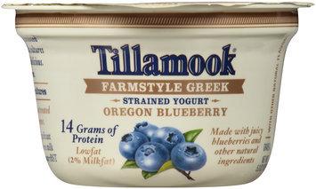 Tillamook® Farmstyle Greek Oregon Blueberry Strained Lowfat Yogurt 5.3 oz. Cup