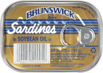 brunswich sardines in soybean oil