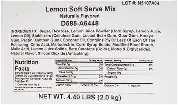 Dole® Lemon Soft Serve Mix 4-4.40 lb. Bags