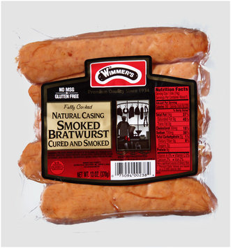 Wimmer's® Natural Casing Smoked Bratwurst 5 ct Pack