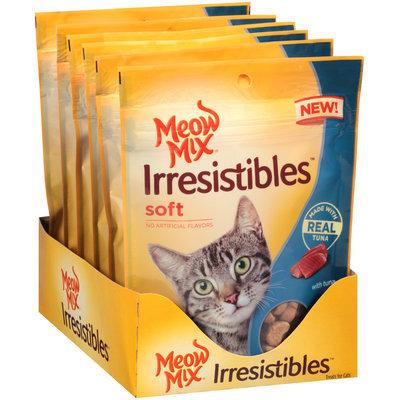 Meow Mix® Irresistibles™ Soft Tuna Cat Treats 3 oz. Stand Up Bag