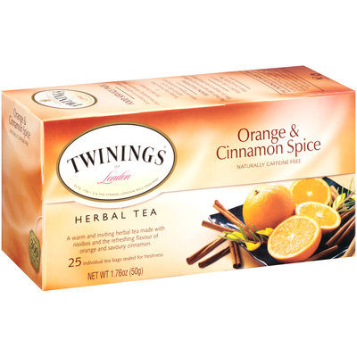Twinings® of London Orange & Cinnamon Spice Herbal Tea 25 ct Tea Bags 1.76 oz. Box