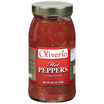 Oliverio Hot Peppers in Sauce Olvero 25.5 oz. Jar