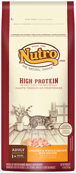Nutro® High Protein Adult Chicken & Whole Brown Rice Recipe Cat Food 6.5 lb. Bag