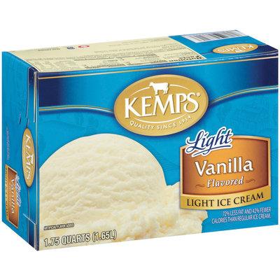 Kemps Light Vanilla Flavored Ice Cream 1.75 Qt Carton