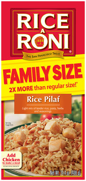 RICE-A-RONI Rice Pilaf Flavor Famiy Size Rice Blend 14.4 Oz Box