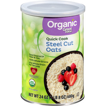 Great Value™ Organic Quick Cook Steel Cut Oats 24 oz. Canister