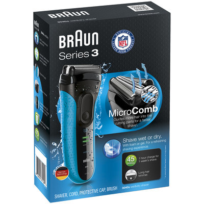 3Series Braun Series 3 3040s Wet & Dry Electric Shaver