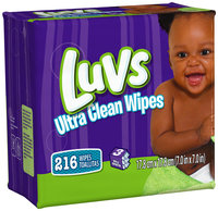 Ultra Thicks Natural Aloe Luvs Ultra Clean Wipes 3X Refills 216 Count