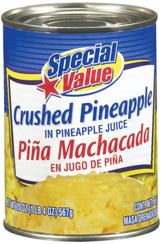 Special Value Crushed In Pineapple Juice Pineapple 20 Oz Can