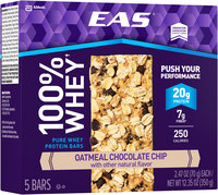EAS® 100% Whey Oatmeal Chocolate Chip Pure Whey Protein Bars