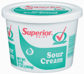 Superior Cultured Sour Cream 1 Lb Tub