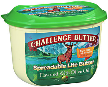 Challenge Butter Spreadable Lite Flavored with Olive Oil 15 oz. Tub