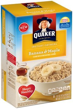 Quaker® Banana & Maple Instant Oatmeal 8-1.5 oz. Packets