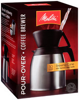 Melitta® Pour-Over™ Brewer 10 Cup Coffee Maker with Stainless Thermal Carafe