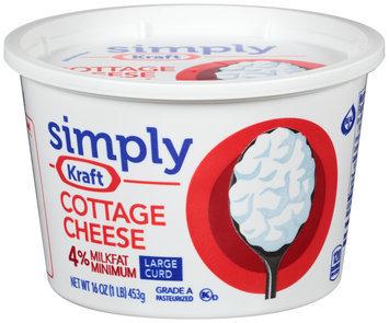 Simply Kraft Large Curd 4% Milkfat Minimum Cottage Cheese 16 oz. Tub