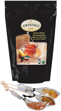 Twinings of London Made W/Real Honey & Lemon Extract Honey-Stirrer Tea Sweetener 5.7 Oz Stand Up Bag