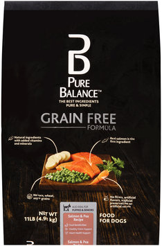 Pure Balance® Grain Free Formula Salmon & Pea Recipe Dog Food 11 lb. Bag