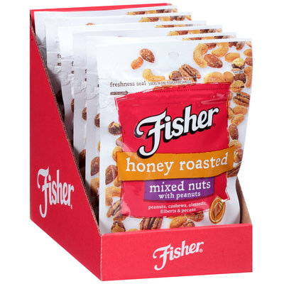 Fisher® Honey Roasted Mixed Nuts With Peanuts 5 oz. Pouch