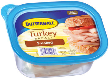 Butterball Smoked Deli Shaved Turkey Breast 9 Oz Plastic Tub