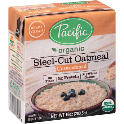 Pacific Organic Unsweetened Steel-Cut Oatmeal