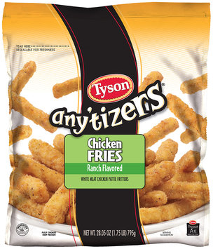 Tyson® Any'tizers® Ranch Flavored Chicken Fries 28.05 oz. Bag