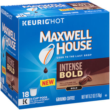 Maxwell House Intense Bold Ground Coffee K-Cup® Pods 18 ct Box