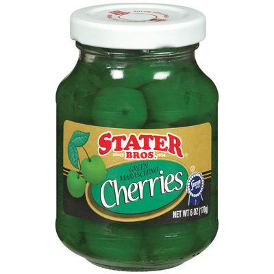 Stater Bros. Green Maraschino Cherries 6 Oz Jar