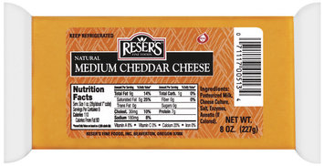 Reser's Fine Foods Natural Medium Cheddar Cheese 8 Oz Brick