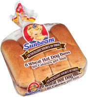 Sunbeam® Wheat Hot Dog Buns 8 ct Bag
