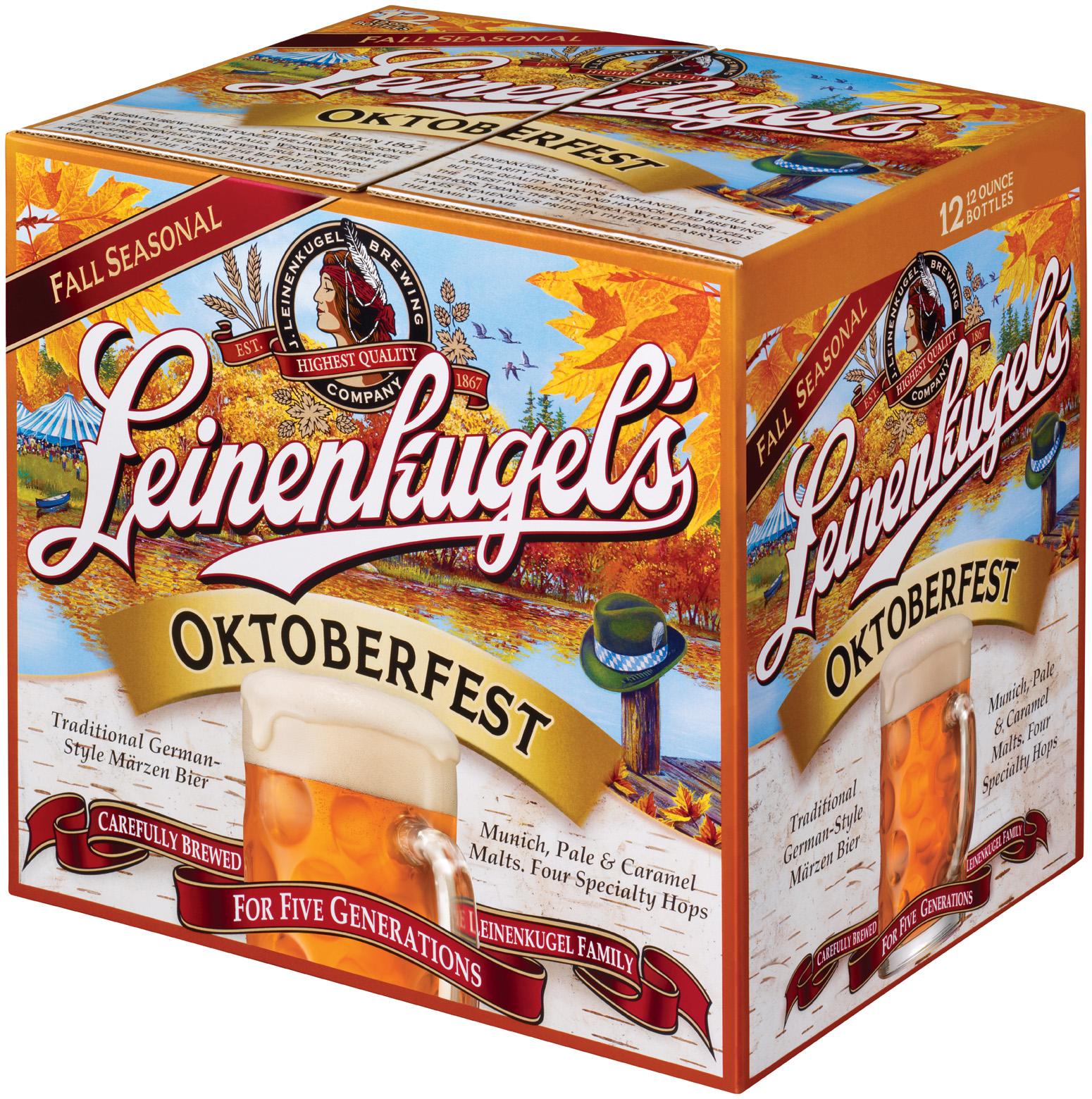 Leinenkugel's Oktoberfest 12 Oz Beer Secondary Pack 12 Pk Glass Bottles