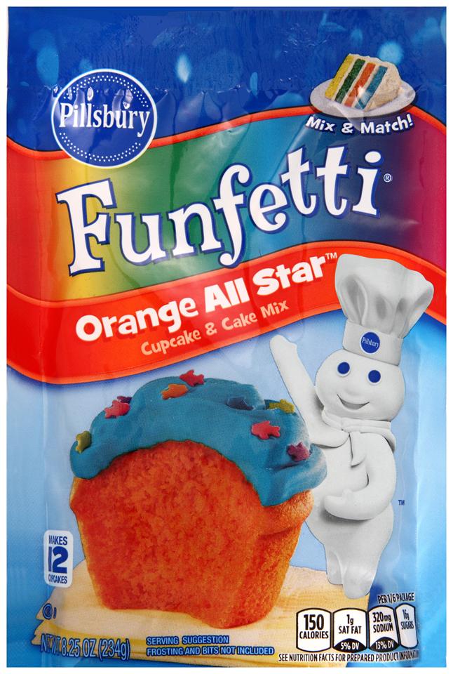 Pillsbury Funfetti® Orange All Star™ Cupcake & cake Mix