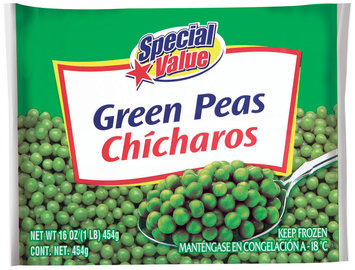 Special Value  Green Peas 16 Oz Bag