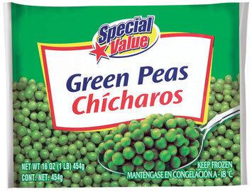 Special Value  Green Peas 16 Oz Bag