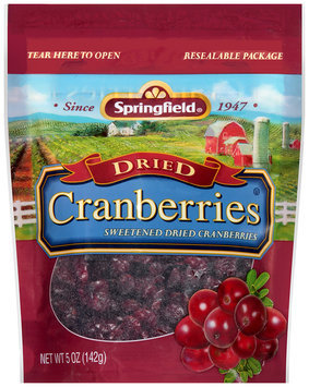 Springfield® Sweetened Dried Cranberries 5 oz. Bag