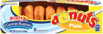 Stater Bros. Plain 8 Ct Donuts 9.5 Oz Box