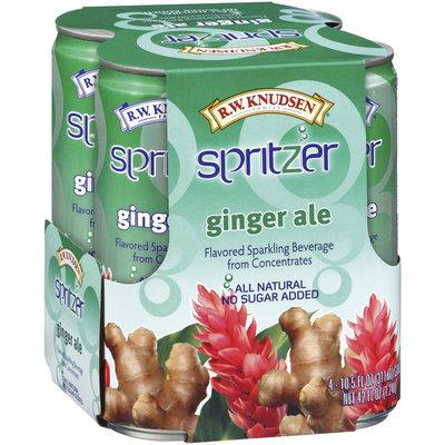 R.W. Knudsen Ginger Ale Sparkling Beverage 10.5 Oz Spritzer 4 Ct Cans