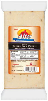 Alto® Sliced Pepper Jack  Cheese 1.5 Lb Package