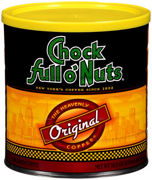 Chock full o' Nuts® The Heavenly Coffee® Original Ground Coffee 30.5 oz. Canister