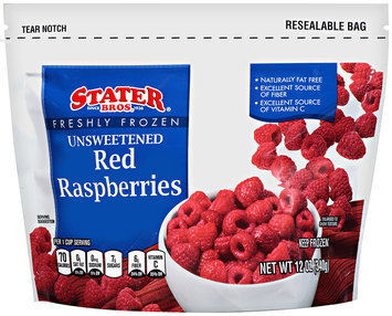Stater bros® Freshly Frozen Unsweetened Red Raspberries